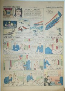 Ace Drummond Sunday by Capt Eddie Rickenbacker from 10/6/1935 Large Full Page !