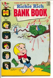 Richie Rich Bank Book #3 1973-birds nest of money cover-Little Dot-Little Lot...