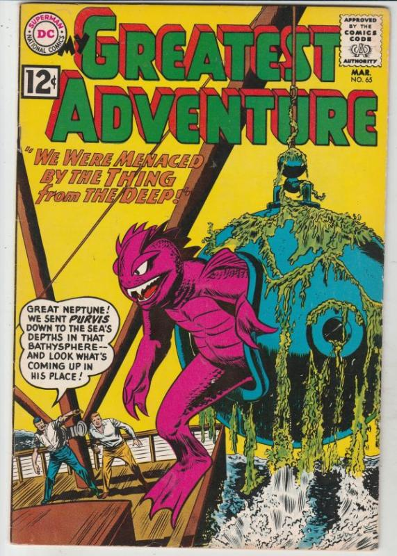 My Greatest Adventure #65 (Mar-62) VF High-Grade