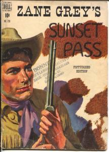 Zane Grey's Sunset Pass-Four Color Comics #230-1949-Dell-book length comic-VG
