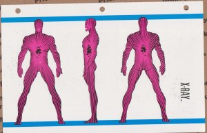 Official Handbook of the Marvel Universe Sheet- X-Ray