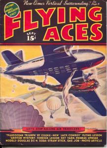 Flying Aces 9/1938-August Schomburg-pulp thrills-Al McWilliams-VG/FN