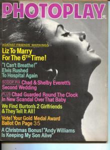 Photoplay-Liz Taylor-Elvis Presley-Richard Burton-George Raft-Jan-1974