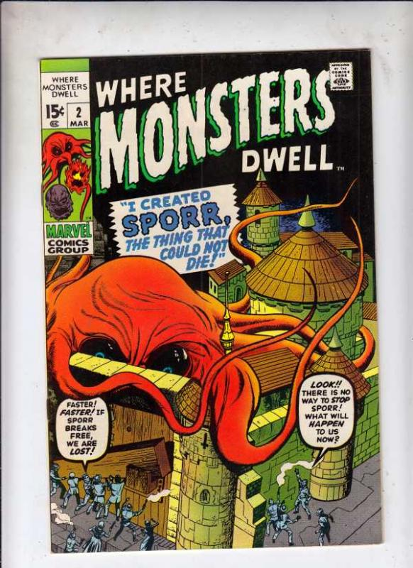 Where Monsters Dwell #2 (Mar-70) NM- High-Grade Sporr