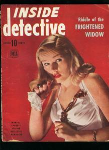 INSIDE DETECTIVE MARCH 1946-GOOD GIRL ART-TRUE CRIME- G