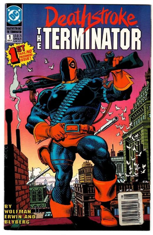 Deathstroke the Terminator #1  Comic Book 1991-DC First issue
