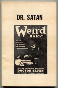 Pulp Classics #6 1974-Doctor Satan pulp reprints Weird Tales