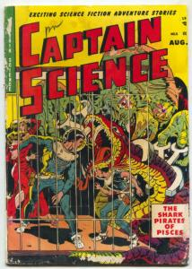 Captain Science #5 1951- Wally Wood- Great sci-fi monster cover