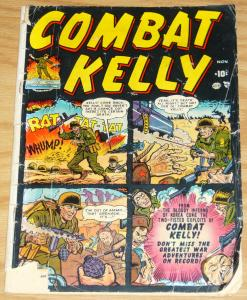 Combat Kelly #1 november 1951 - 1st appearance - atlas comics - korean war
