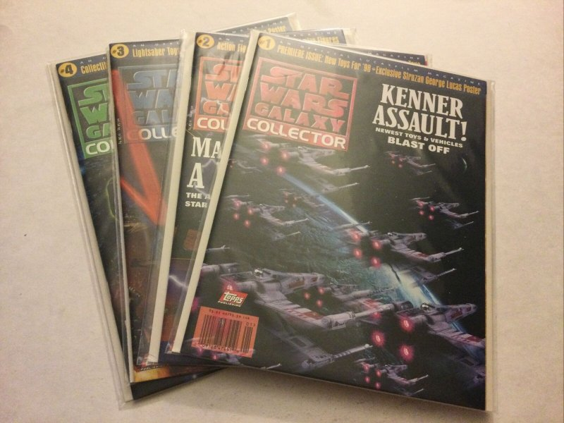 Star Wars Galaxy Collector 1-4 1 2 3 4 Nm Near Mint Topps Publishing