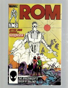 Rom # 75 NM- Marvel Comic Book Last Issue Spaceknight Paradise P. Craig Russ SB5