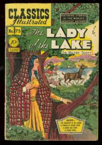 CLASSICS ILLUSTRATED #75 HRN 75-LADY OF THE LAKE-1ST ED VG