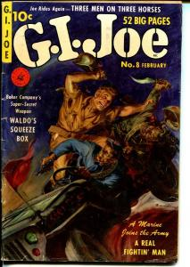 G.I.Joe #8 1952-Ziff-Davis-Norman Sanders-Korean War-Jeep-Bob Powell-commies-VG