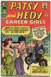 PATSY AND HEDY #104-1966-MARVEL-MOTORCYCLE cover VG