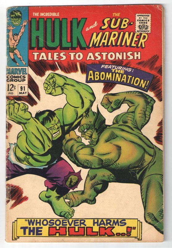 Tales to Astonish #91 (1967) 1st  COVER APPEARANCE ABOMINATION