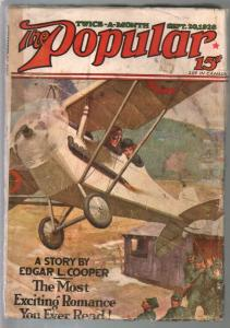 Popular 9/20/1928-Jerome Rozencover-adventure & mystery pulp-VG