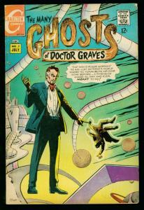 THE MANY GHOSTS OF DOCTOR GRAVES #7 1968-CHARLTON COMICS-DITKO- fn