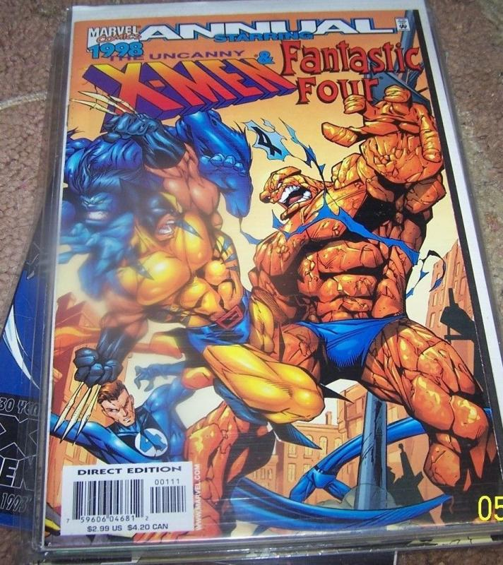 Uncanny X-Men / Fantastic Four '98  annual   1998, Marvel) wolverine vs thing