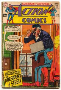 Action Comics #371 1969- SUPERMAN- President of Steel VG