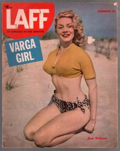 Laff 12/1950-Jean Williams pin-up cover-Alberto Varga-Lily Christine-VG
