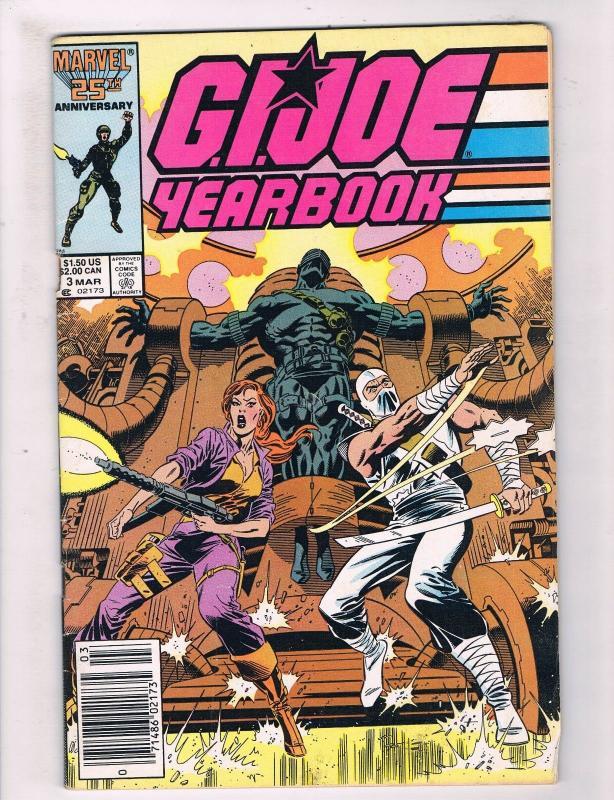 GI Joe Yearbook 3 FN Marvel Comic Book Hasbro Cartoon Movie Duke Snake JH3