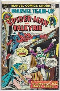 Marvel Team-Up   vol. 1   # 34 GD Spider-Man, Valkyrie