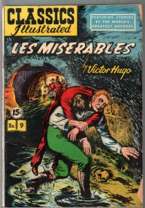 Classics Illustrated #9-HRN 87-Les Miserables-Hugo-15¢ cover price-Canadian-VG-
