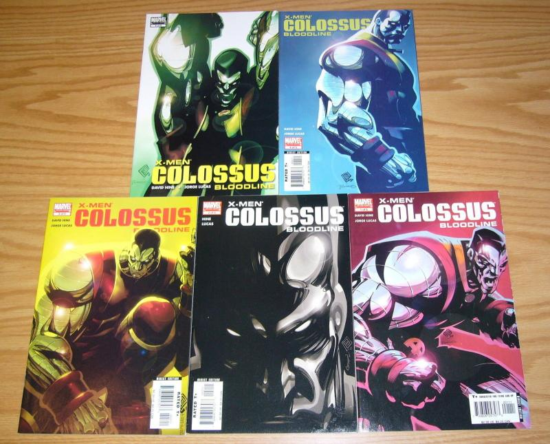 X-Men: Colossus - Bloodline #1-5 VF/NM complete series  david hine chris bachalo