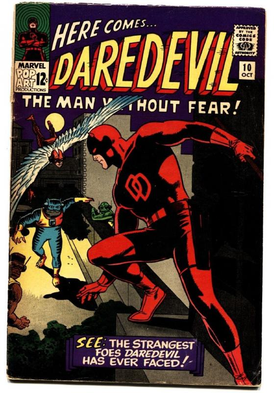 DAREDEVIL #10 comic book 1965-MARVEL COMICS-WALLY WOOD g