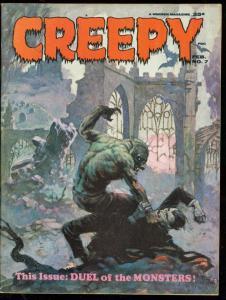 CREEY MAGAZINE #7 1965-FRAZETTA-TORRES-CRANDALL-TOTH-VF VF