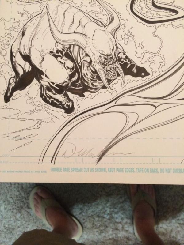Doug Mahnke Original Art P.10 11 Green Lantern 52 Full Splash 1St Ap Of Entities