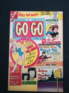 GO-GO #1 Silver Age Charlton Herman's Hermits Rolling Stones Higher Grade