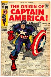 CAPTAIN AMERICA #109 (Jan1966)  5.0 VG/FN  Detailed Retelling of Cap's Origin!