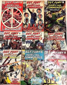 SGT. FURY#64-86 VG-VF LOT 1969-71 (9 BOOKS) MARVEL BRONZE AGE COMICS