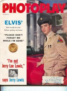 Photoplay-Elvis Presley-Jerry Lewis-KIm Novak-John Saxon-Oct-1958