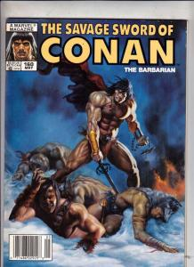 Savage Sword of Conan #160 (May-89) NM- High-Grade Conan