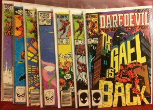 Daredevil Comic Lot  7 First Series Daredevil Comics Ranging From FN to NM-1984