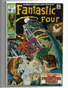 FANTASTIC FOUR #94 - FN/VF - AGATHA HARKNESS - MID GRADE BRONZE AGE KEY