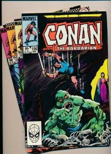 Marvel Comics Lot of 4-CONAN THE BARBARIAN #152,154-156 VERY FINE+ (PF925)
