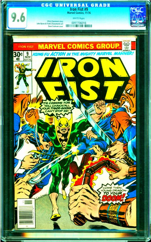 Iron Fist #9 CGC Graded 9.6 Chris Claremont Story