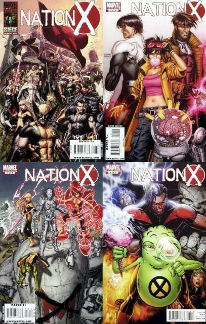 NATION X (2010) 1-4  'Nation X' tie-in  COMPLETE!