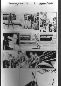 Uncanny X-Men #31 Page 4 Original Comic Book Art 2013-Bachalo-Al Vey-Cyclops-FN