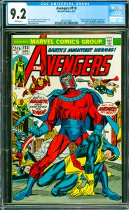 Avengers #110 CGC Graded 9.2 X-Men (Professor X, Cyclops, Iceman and Marvel G...