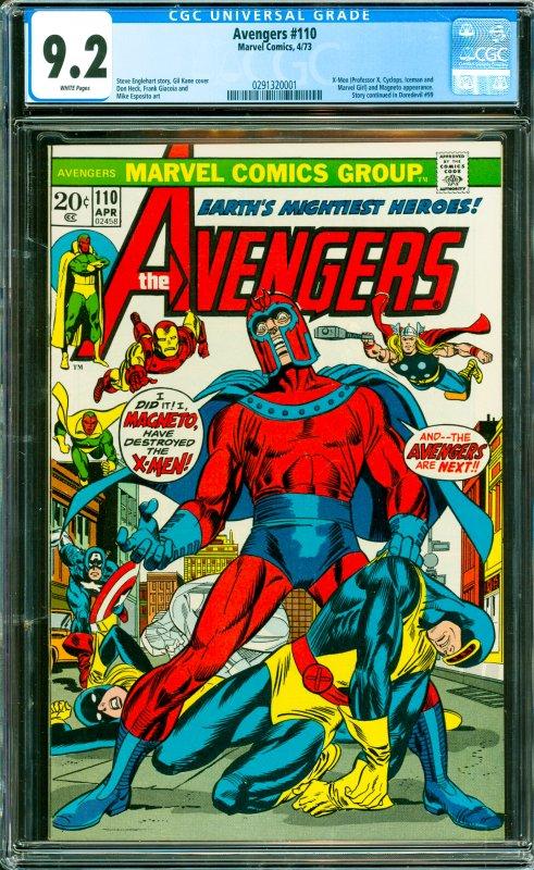 Avengers #110 CGC Graded 9.2 X-Men (Professor X, Cyclops, Iceman and Marvel G...