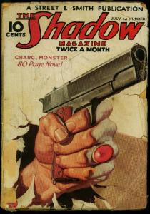 The Shadow Pulp July 1 1934- Charg Monster- Maxwell Grant reading copy