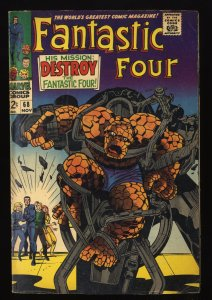 Fantastic Four #68 VG+ 4.5 Marvel Comics