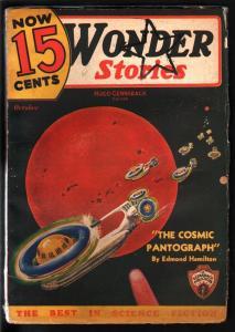WONDER STORIES 1935 OCT-STAR TREK ENTERPRISE STYLE CVR? VG