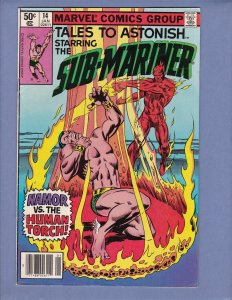 Tales To Astonish #14 FN Namor Sub-Mariner Marvel 1981