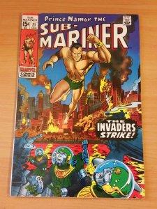 Prince Namor Sub-Mariner #21 ~ VERY FINE VF ~ 1969 MARVEL COMICS