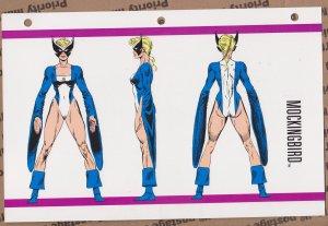 Official Handbook of the Marvel Universe Sheet- Mockingbird